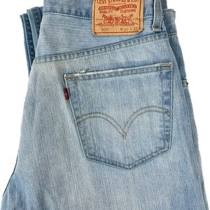 Levi's Red Tab Light Wash 505 Jeans 34 x 32